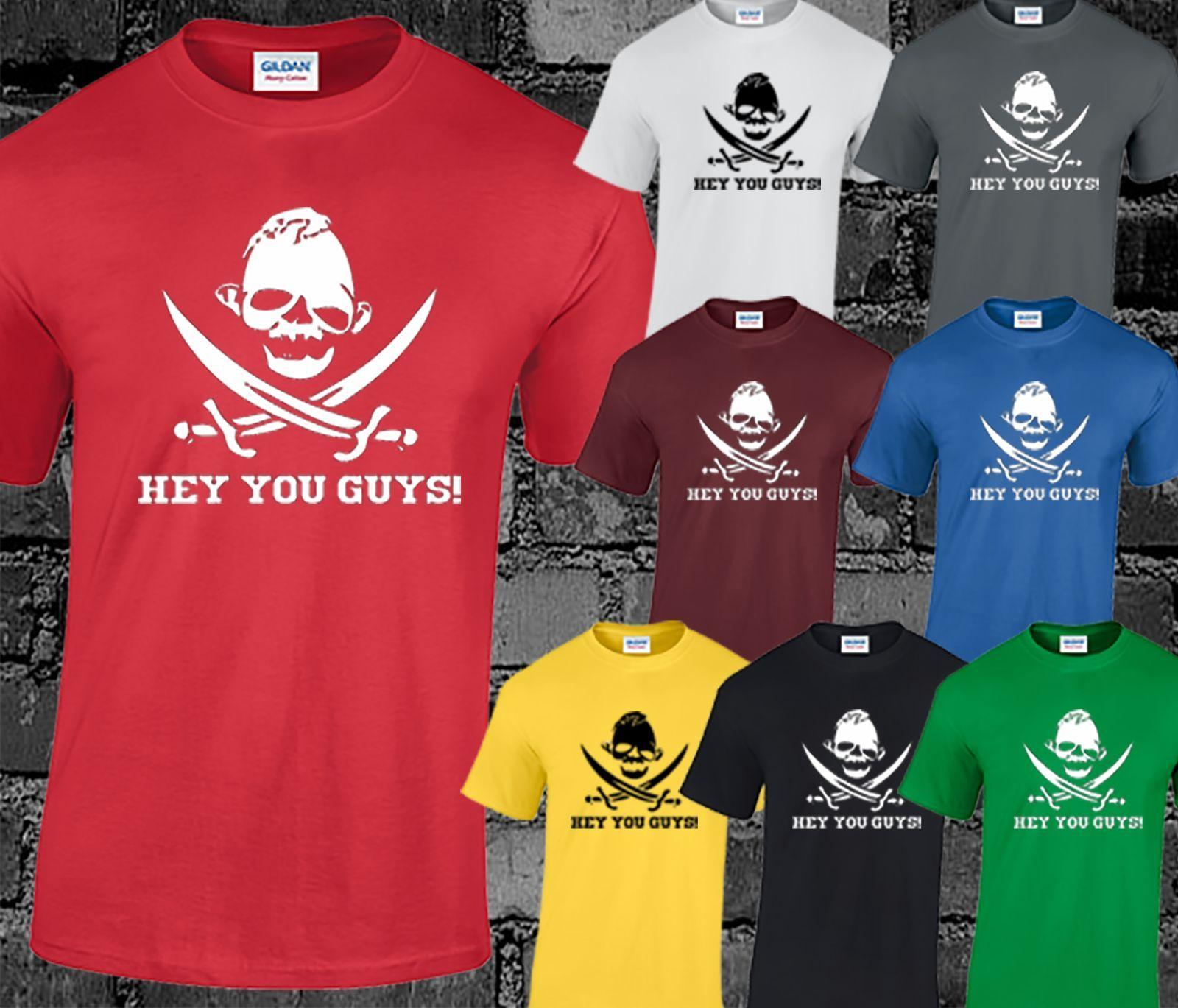 3453f5d17 Hey You Guys Mens T Shirt Goonies Movie Retro Film Quote Funny Gift Present  Cool Casual Pride T Shirt Men Unisex New Fashion T Shirt Sale Cool Shirt  Designs ...