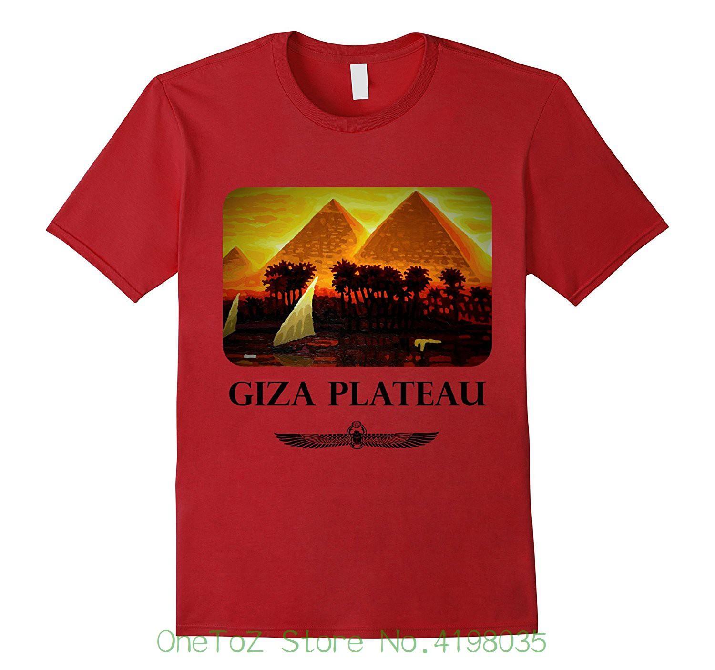 Pyramids Of Giza Ancient Egypt Egyptian Nile Shirt Casual T shirt Male  Short Sleeve Pattern