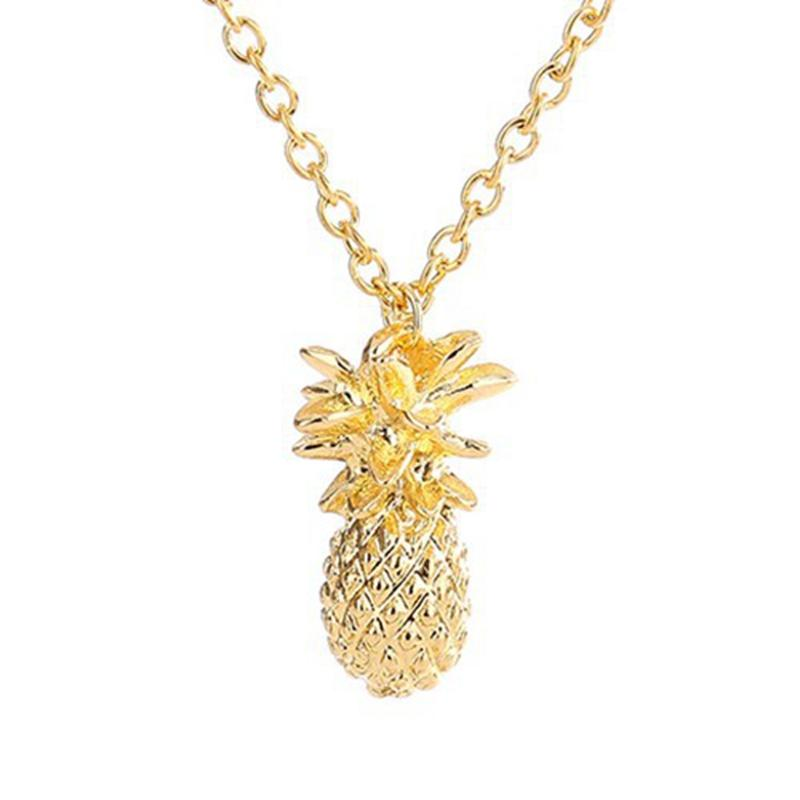 d3ede7cfa Wholesale Fahion Design Silver Gold Color Pineapple Pendant Necklace For  Women Girl Vintage Fruit Cute Link Chain Necklace Jewelry Accessories  Silver ...