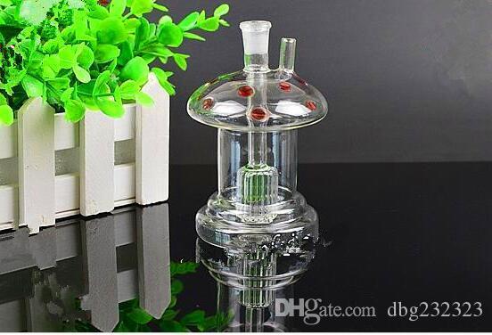 Seta de flores pipa de agua Comercio al por mayor bongs de vidrio Quemador de aceite Tubería de agua de vidrio Plataformas petroleras Fumadores, aceite.