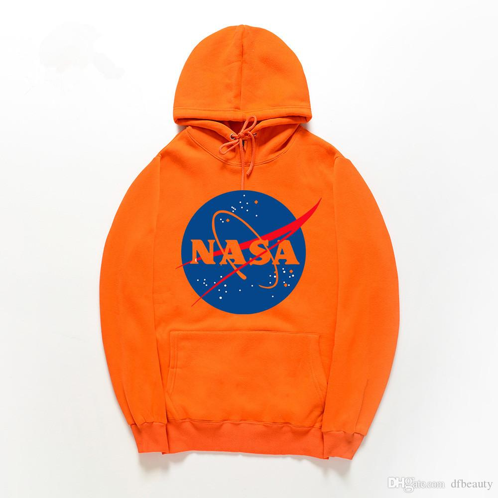 Оптовая Осень зима НАСА Толстовки Серый Черный Хаки Мужчины Женщины Пуловер Хлопок Толстовка Хип-Хоп Толстовка Мужские Толстовки Толстовки Бренд Tide