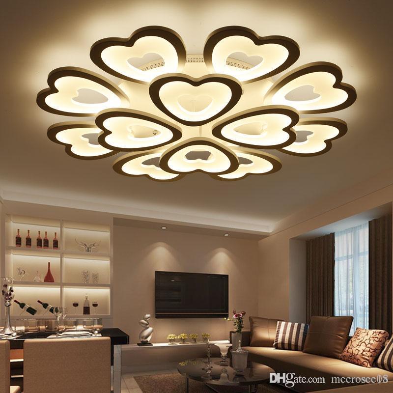 Moderne led-deckenleuchten für wohnzimmer schlafzimmer deckenleuchte acryl  herzform led deckenbeleuchtung wohnkultur