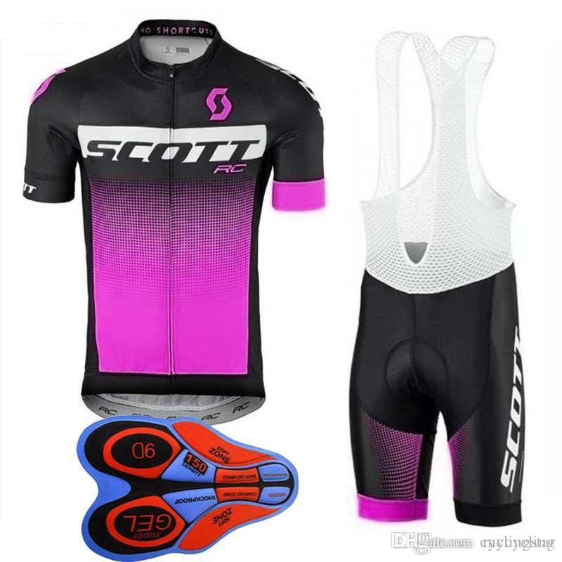 50e69c9e6 Satın Al Scott Ekibi Bisiklet Jersey Seti 2018 YENI Kısa Kollu Önlük Şort  Setleri Yarış Bisikleti MTB Döngüsü Giyim Ropa Ciclismo Spor H1510 Giymek