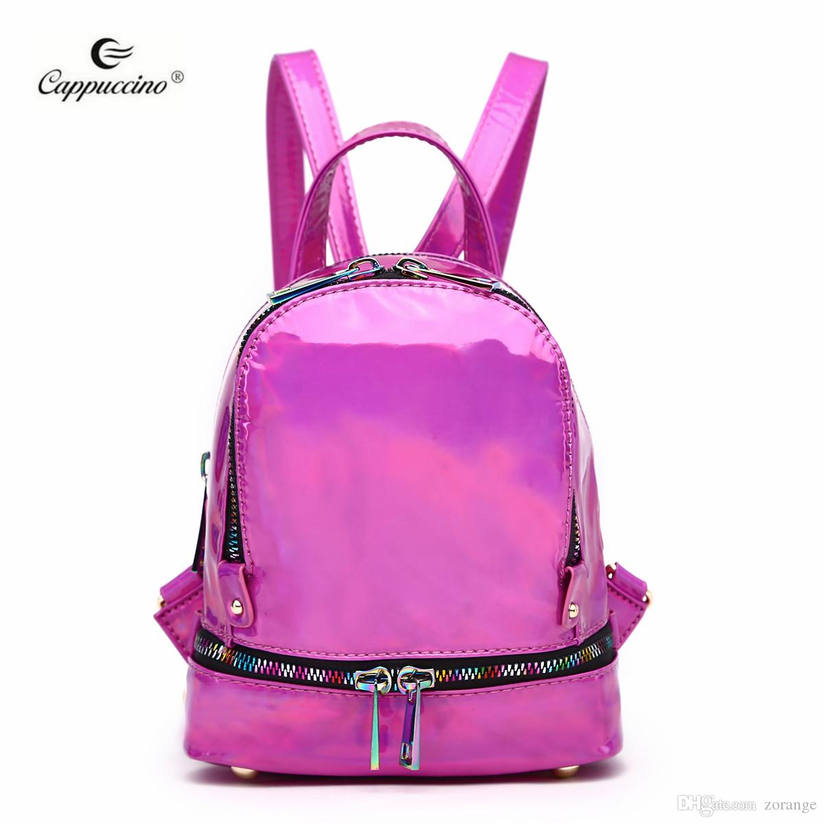 468cb8b3fbf4 2018 Hot Selling Cappuccino New Stylish Products Mini Hologram Deep Pink  Backpack With Rainbow Zipper Waterproof Backpack Kids Backpacks From  Zorange, ...