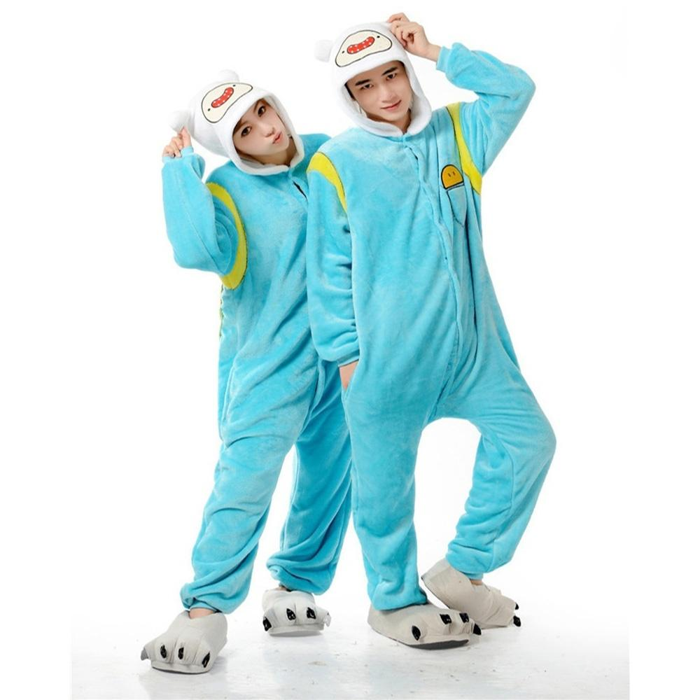 57d359acd7f3 2019 Cute Couple Flannel Pajamas Cartoon Animal Onesie Pajamas For Men And  Women Adult Soft Home Sleepwear Clothing From Max4075