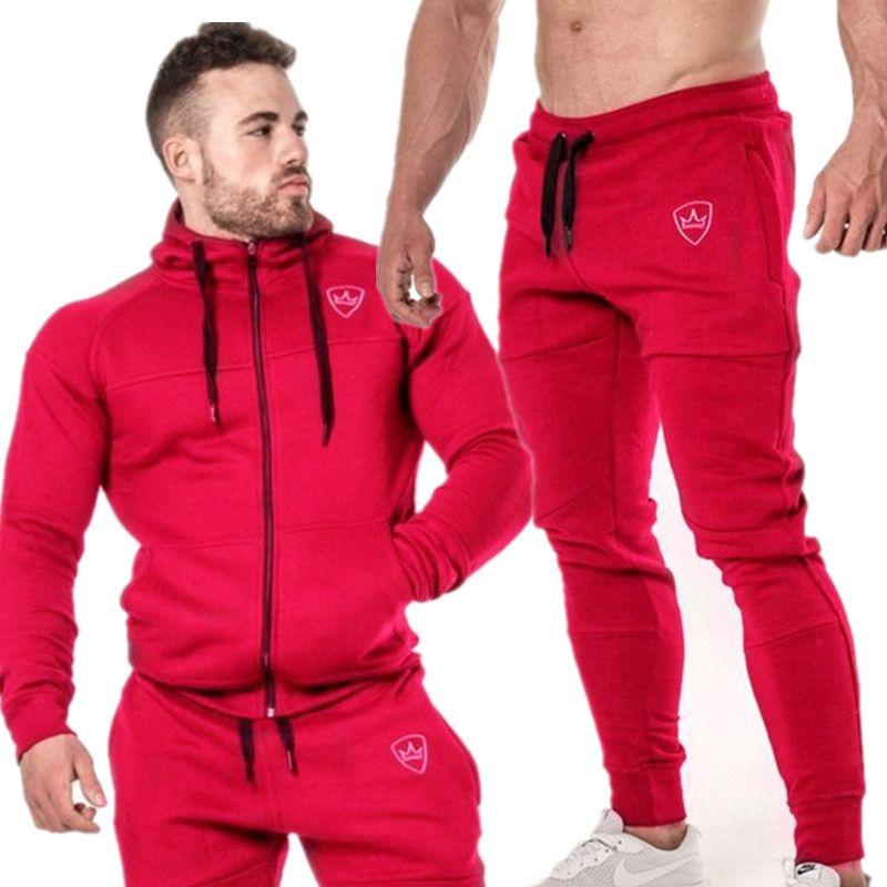 53146fe718a3 Acquista Autunno Inverno Tuta Da Uomo Nuova Moda Abbigliamento Sportivo  Tuta Uomo Vestiti Tute Felpe Maschili Felpa Con Cappuccio E Pantaloni Da  Uomo Di ...