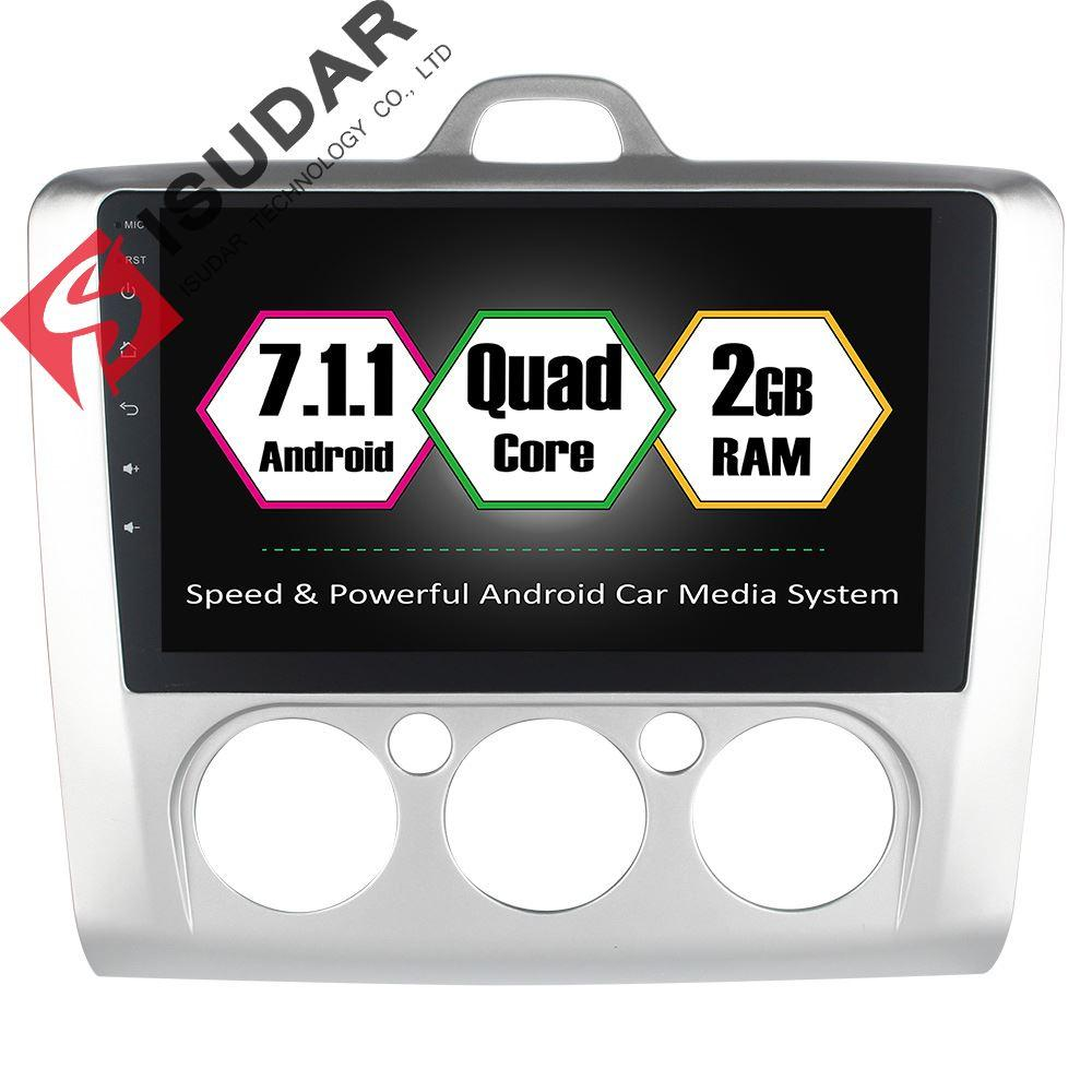 Isudar Car Multimedia Player Car Radio GPS Android 7 1 1 For Ford/Focus  2006-2011 Steering wheel control 2GB DDR3 OBD2 Wifi fm