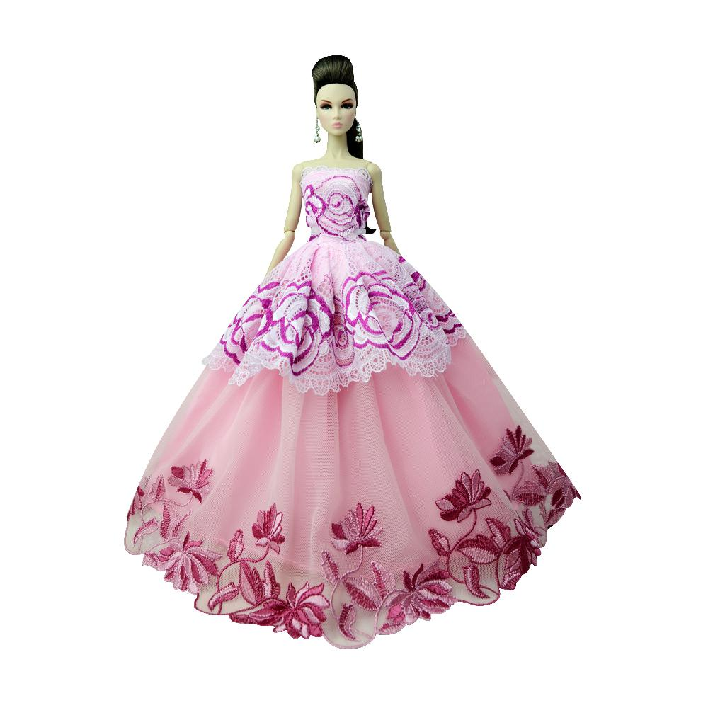 NK One Pcs 2018 Princess Wedding Dress Noble Party Gown For Doll Fashion Design Outfit Best Gift For Girl' Doll 085F