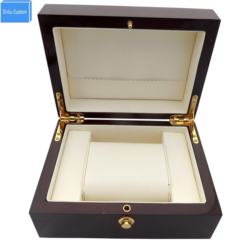 Red Wooden Paint Watch Box Pefect To Storage Watch Case Gift For Lacquer Boxes May Custom Logo Factory Supply