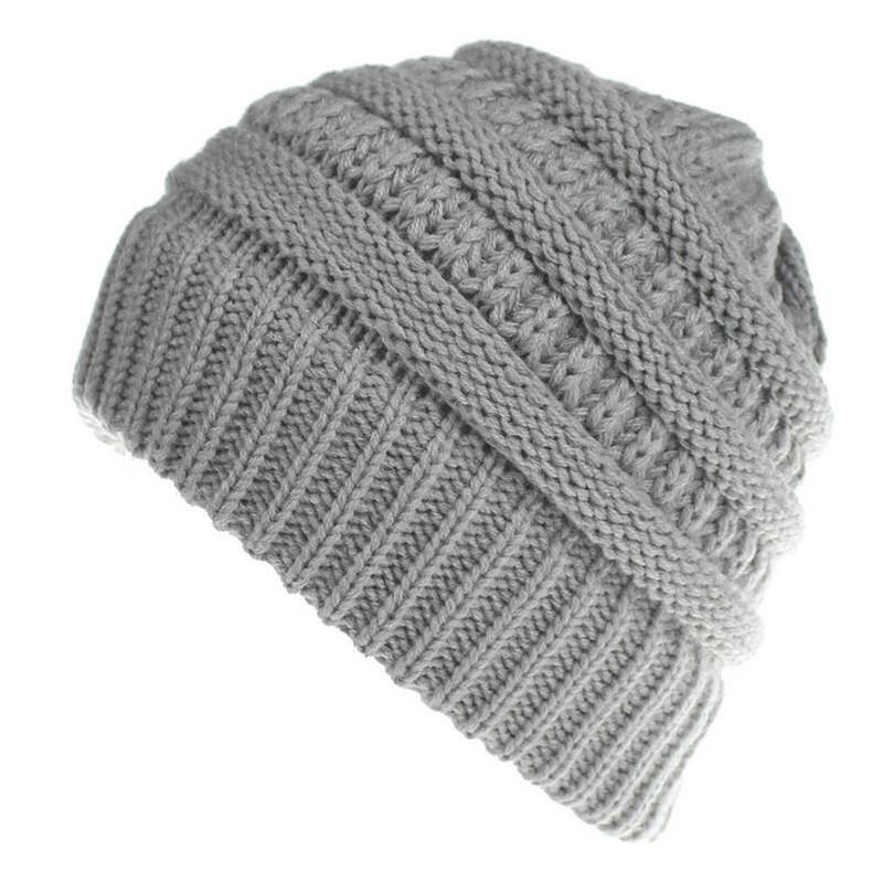 4071bdb0a34 Wool Cap Woman Warm Ball Hat Fashion Knit Large Cap W015 Fitted Hats Straw  Hats From Nectarine99