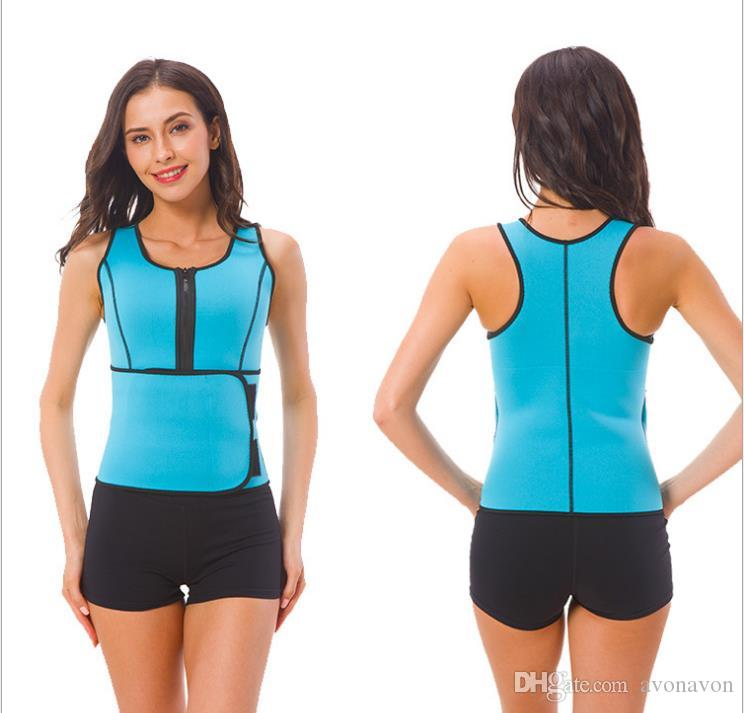 db8a9f7e6c 2019 HOT SALE Neoprene Body Shaper Women Slimming Vest Thermo Fitness  Trainer Neoprene Sauna Vest Vest Adjustable Waist Trainer Body Shaper A872  From ...
