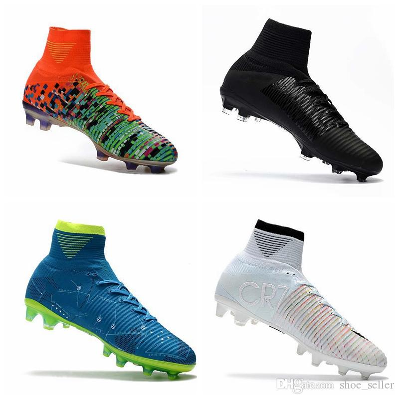 2018 Men Kids Women Mercurial Superfly CR7 V FG AG Football Boots Cristiano  Ronaldo High Tops Neymar JR ACC Soccer Shoes Soccer Cleats UK 2019 From ... fbc7377f6