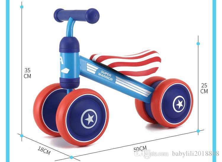 Children's Bicycle Kids Balance Bike Ride On Toys For Kids Four Wheels Child Bicycle Carbon Steel Bike For Children 1-2 Years