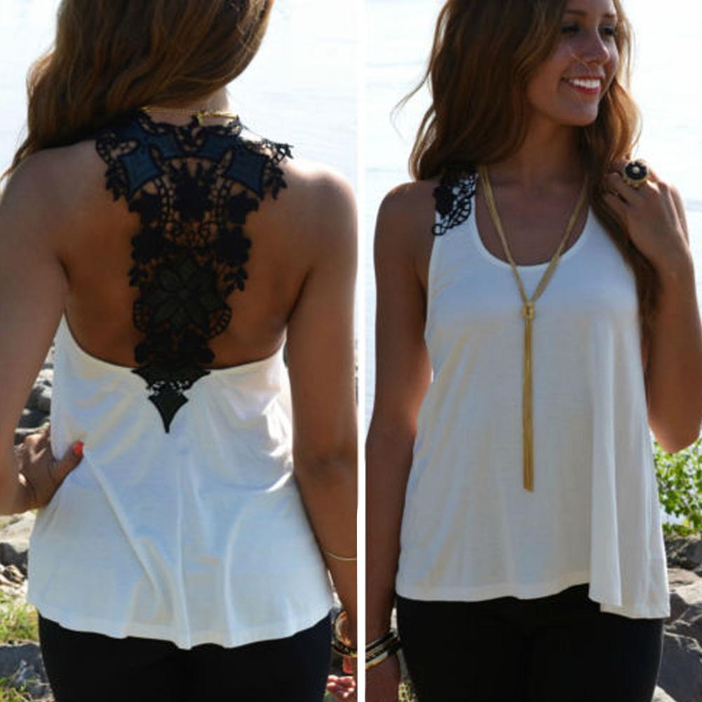 a99ef65978ac82 2019 4XL Plus Size Crochet Lace Back Tank Top Women Backless Sexy Summer Top  Casual Sleeveless Chiffon Vest Debardeur Femme Shirt Top From Modeng07, ...