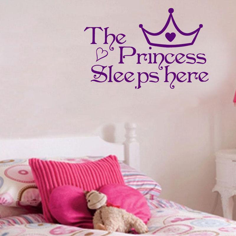 Großhandel Die Prinzessin Schläft Hier Kinder Schlafzimmer ...
