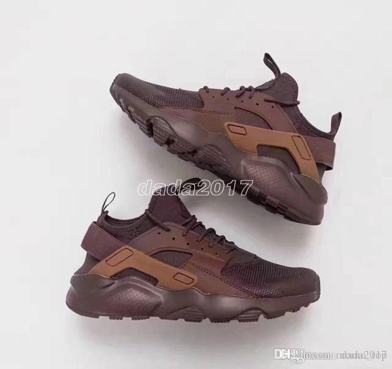 best service f6585 32264 Newest 2018 Huarache sneakers white brown Huaraches 4 mens womens high  quality fashion trainers Ultra star Casual Shoes Size Eur 36-45
