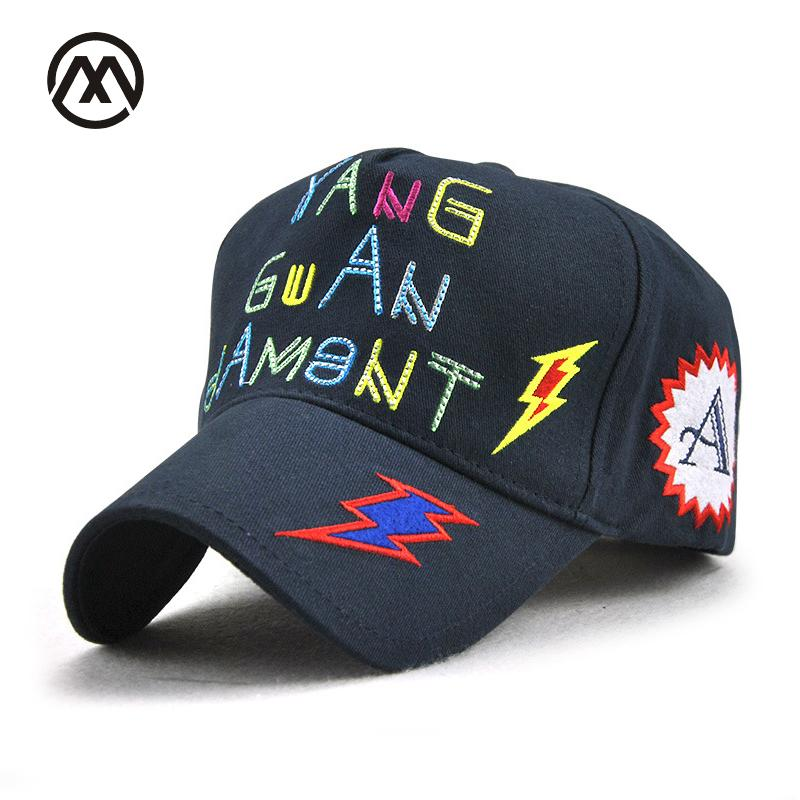 Baseball Caps Letter Lightning Embroidered Hip Hop Hat Patch Women s Caps  Park Black Game Graffiti Bone Casquette Snapback Women Kangol Baseball Caps  From ... 2ba770d07