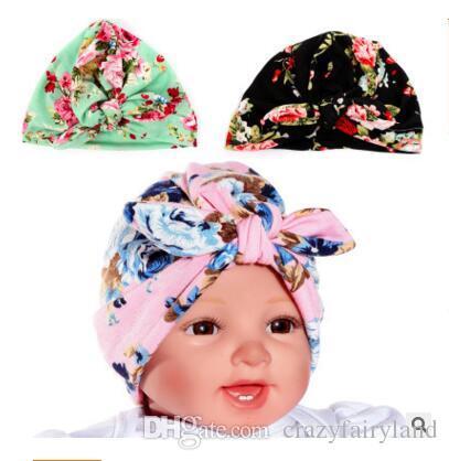 e4651e72140 2019 Hat Rabbit Girls Boys Ear Adorable Baby Knot Newborn Elastic Sretch  Turban Head Wrap Baby Hat Girls Best Gifts From Crazyfairyland