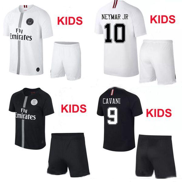 ddd5cc237 Compre PSG AIR JORDAN Terceiro 18 19 Champions Camisa De Futebol Crianças  2019 Paris Saint Germain Jerseys Campeões NEYMAR JR MBAPPE Cavani Jersey Kit  De ...