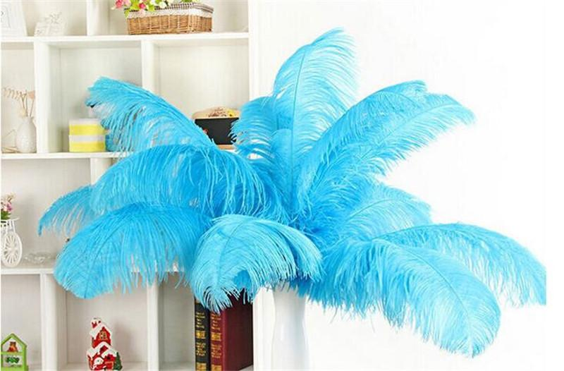 6-16inch White Black Purple Green Yellow Red Blue Pink Ostrich Feather Plume for Home Wedding Party Centerpiece Table Decoration