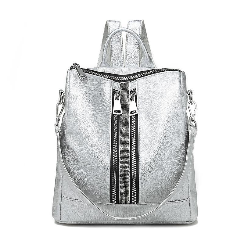 9f2235a940 2019 Fashion New Zipper Women Backpack Travel Stripe Small Backpacks ...