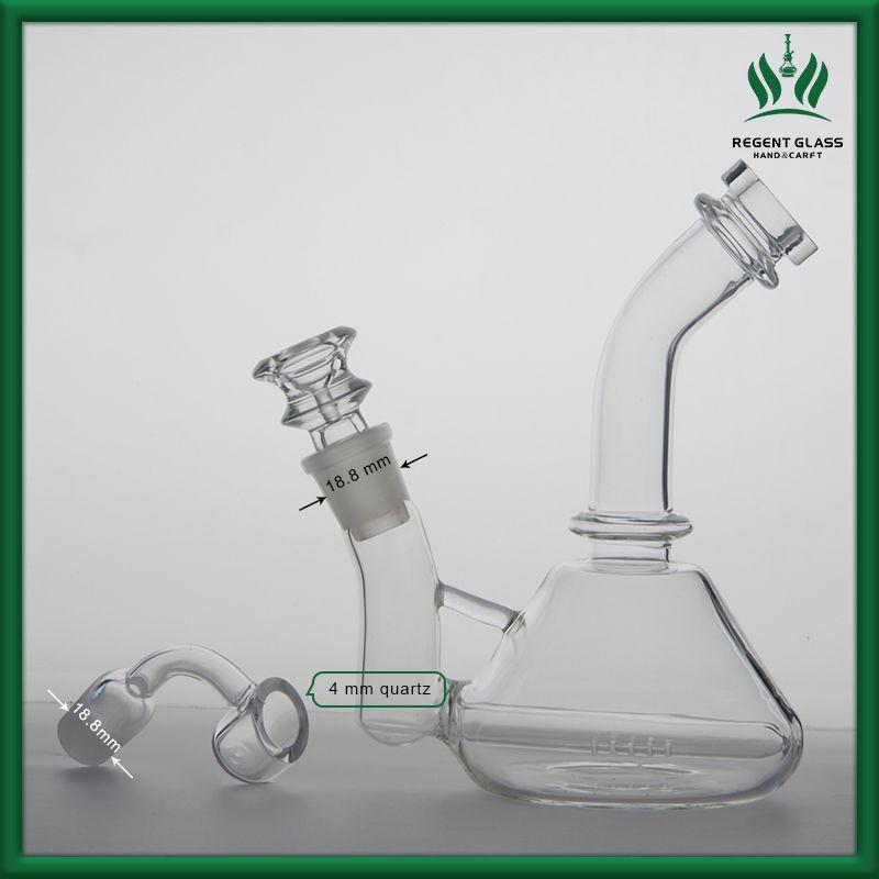 ККИ стекло bongf две функции DAB рог с толщиной 4мм кварц фейерверками ногтей толстые стеклянные бонги мужской совместное 18.8 mm DAB Рог бесплатная доставка