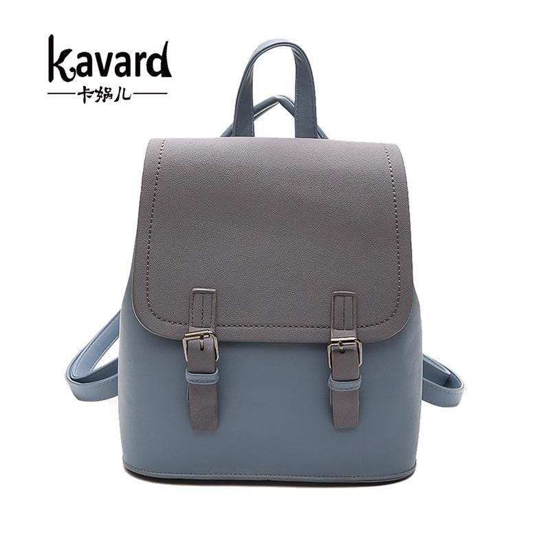 Kavard Brand Backpack Women Backpacks Fashion Small School Bags For Girls  Black Scrub PU Leather Female Backpack Sac A Dos S1011 Toddler Backpack  Kelty ... fad920936d4f6