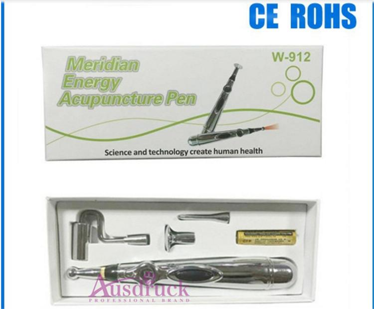 NEW Chinese medicine biotechnology physical Therapy Pen Electronic Acupuncture Meridian Energy Heal Massage Pain Relief face beauty 3/5tips