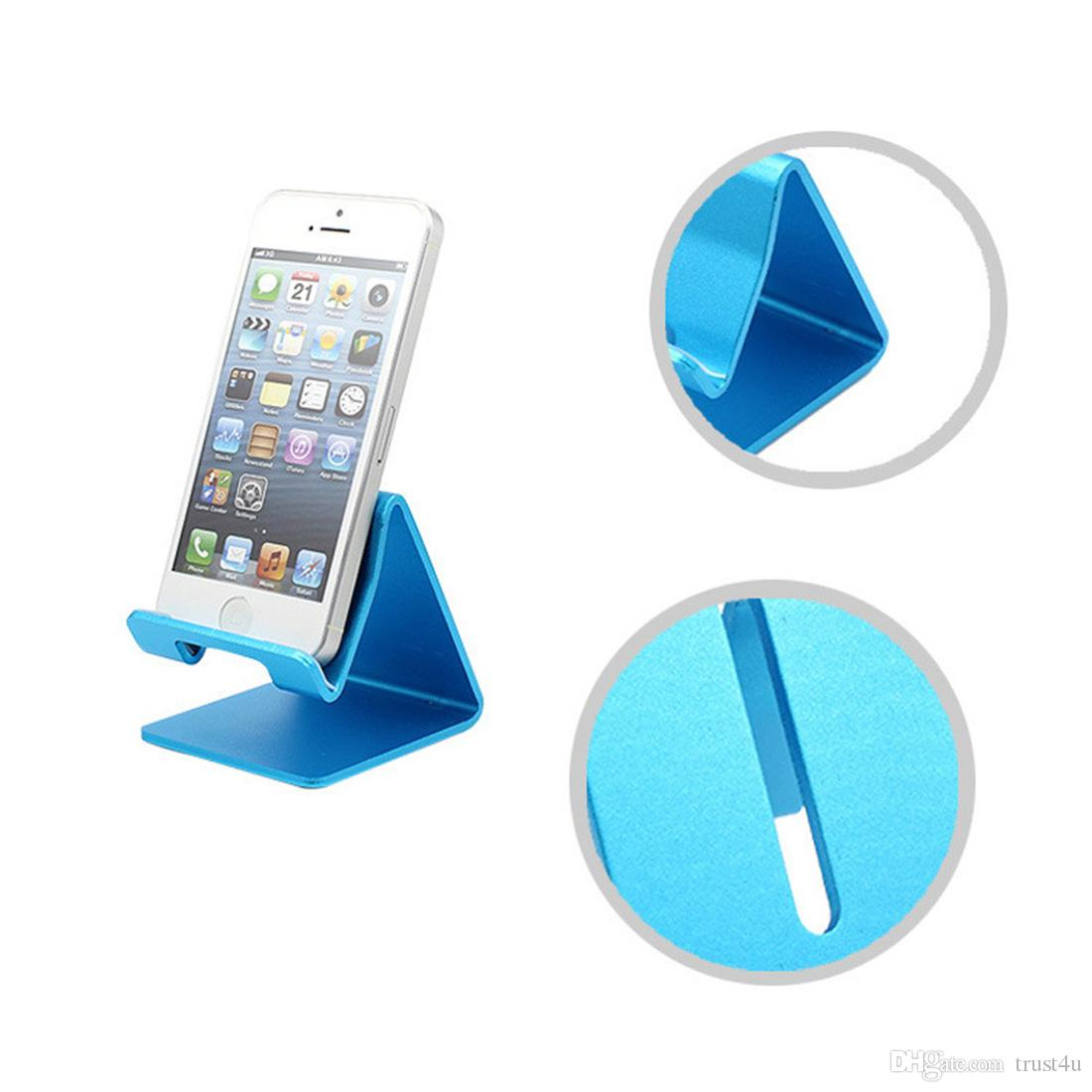 Universal Aluminum Metal Cell Phone Tablets PC Desk Stand Holder Support Bracket For iPhone 6 6S 5S SE For Galaxy Note 5