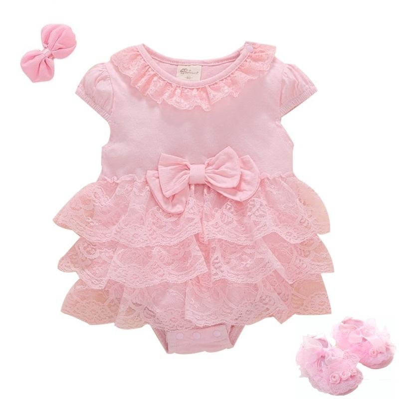 7f757e177e880 Baby Girl dress my First Birthday Baby Body Newborn Girls Birthday 0 3 6  Months Sleeveless Summer Lace Tulle Ruffle Clothes Y18102008