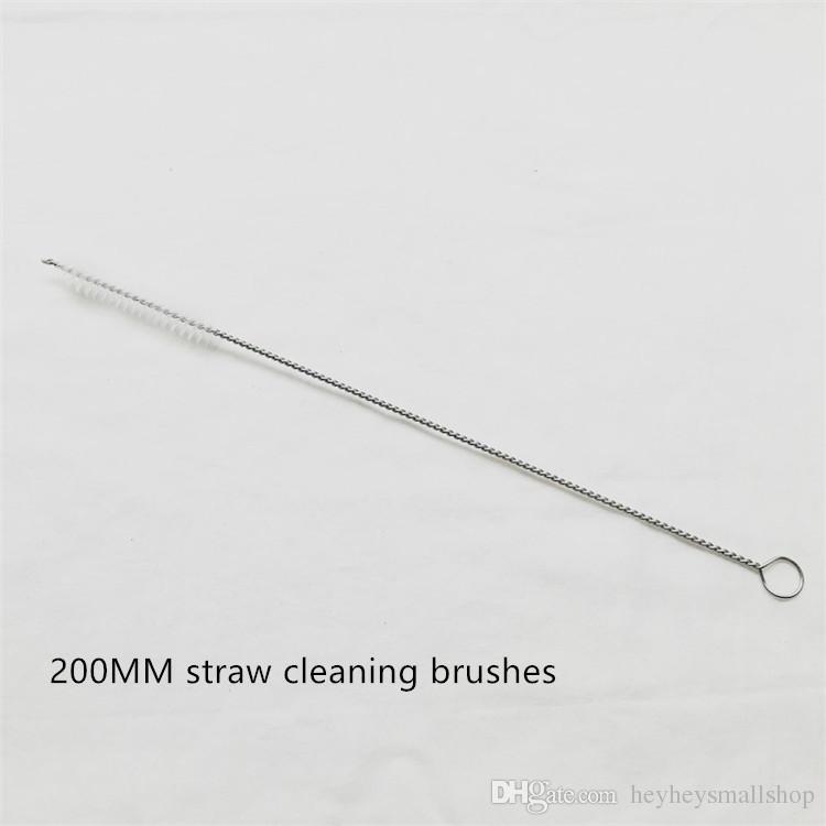Düşük Fiyat Hafif Paslanmaz Çelik Payet Fırça, Metal Payet Temizleme için 200 MM Uzun Naylon Fırça