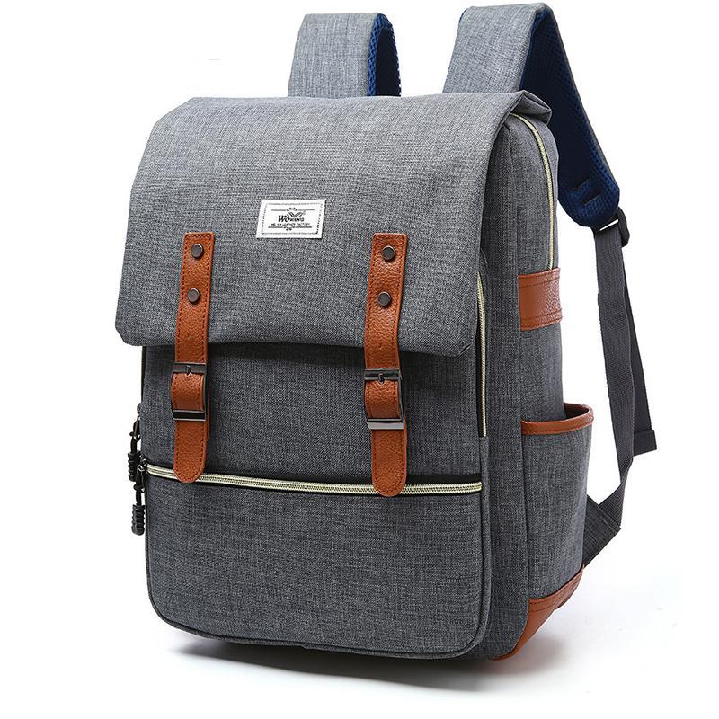 Women School Backpack Canvas Laptop Backpack Teens Large Capacity Schoolbag  Unisex Casual Waterproof Male Travel Bag Backpacks Cheap Backpacks Women  School ... 0fddb05c9b4ae