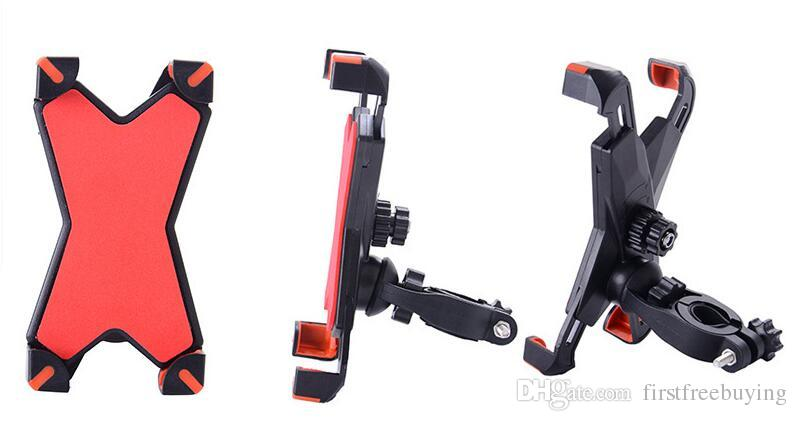 Supporto universale del telefono del supporto del supporto del manubrio del motociclo della bicicletta della bici con la banda di sostegno del silicone Iphone 6 7 più Samsung s7 s8 Note8
