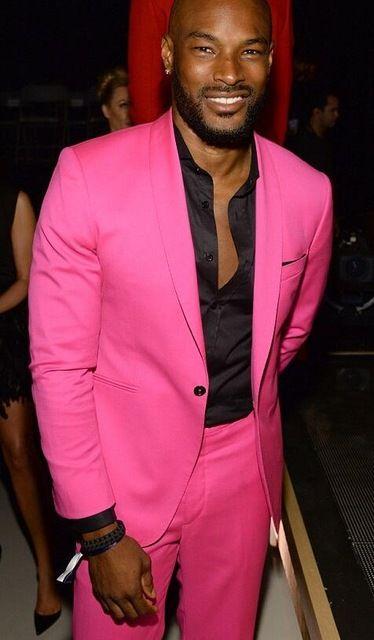 2 Pièces Cool Pink Blazer Celebrity Prom Tuxedo Terno Masculino Veste + Pantalon