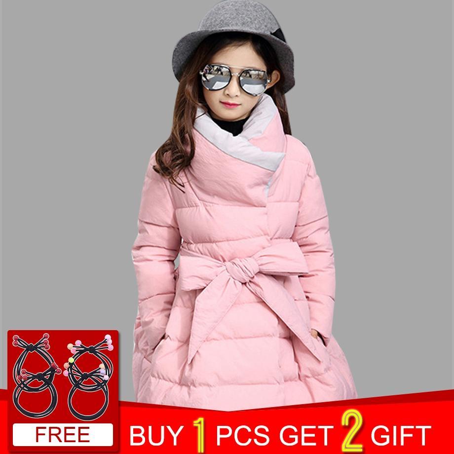 d1b813b03 Compre Winter Park For Girls Bow Cuello De Tortuga Mono Grueso Para Niños  Chaquetas De Niños Informales Ropa Para Niñas Adolescentes Para 6 8 12 Años  A ...
