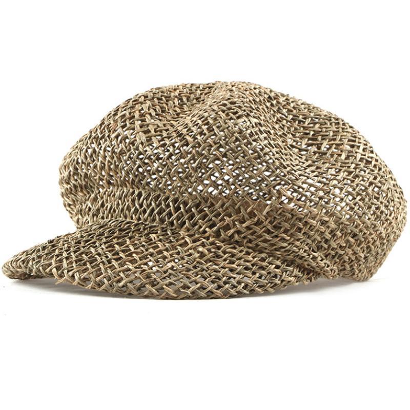 HT1838 Men Women Straw Hats for Summer Casual Crochet Flat Berets Unisex  Cabbie Ivy Newsboy Cap Sun Hats Casual Cabbie Beret Cap Berets Cheap Berets  HT1838 ... d212c058874d