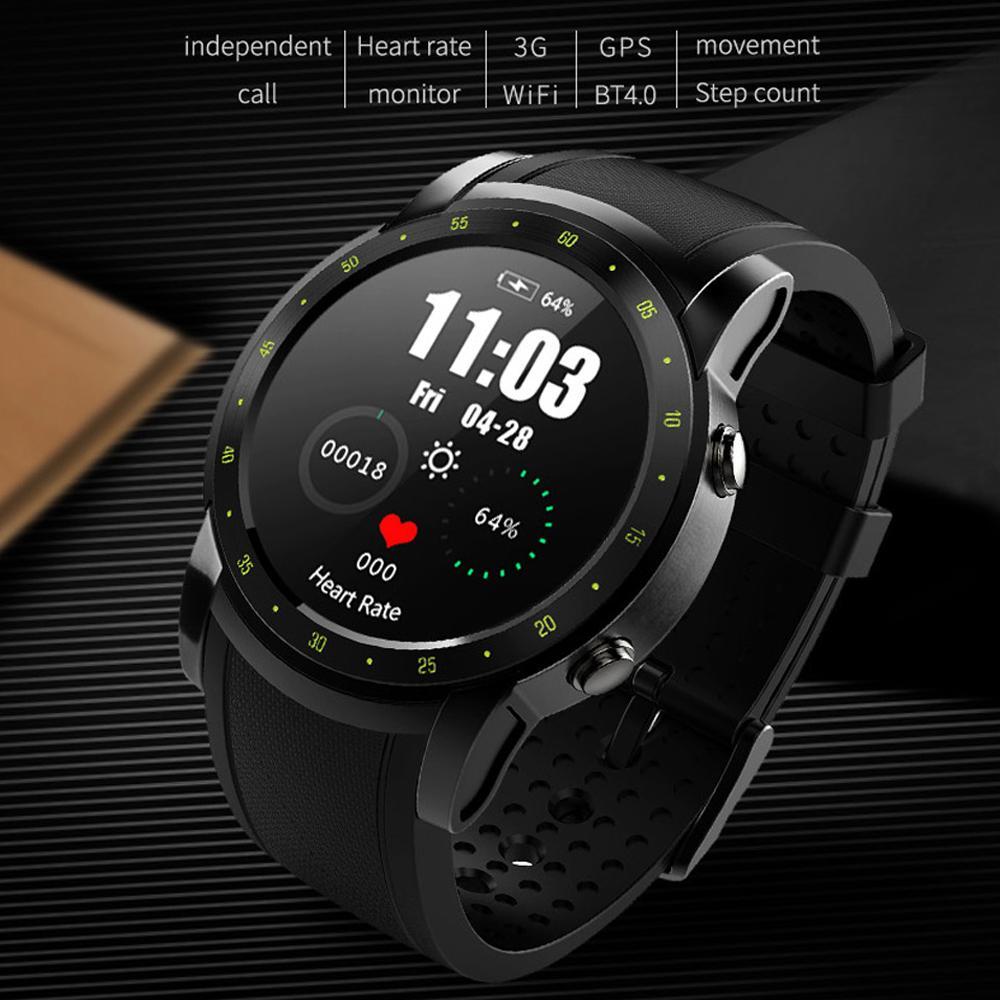 fc40e0e1d7e1 Compre Smart Watch Hombres HW1 GPS Relojes Deportivos Reloj De Pulsera Con  Tarjeta SIM Monitor De Ritmo Cardíaco Fitness Tracker Pulsera Bluetooth  Para ...