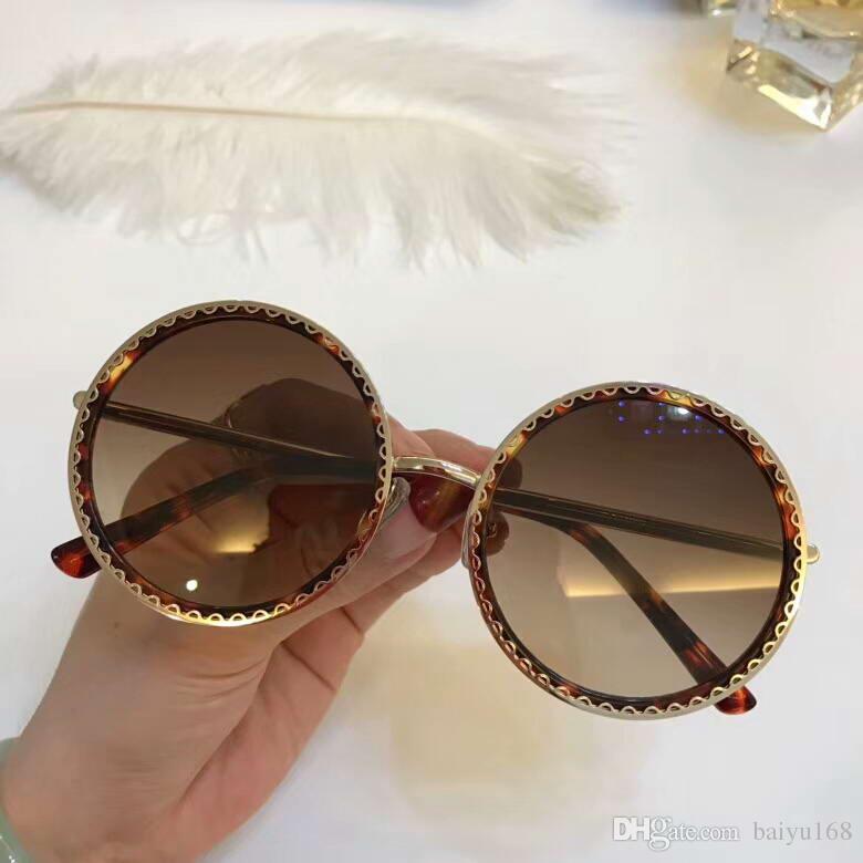 38c6ff881ce Women 6122 Sunglasses Round Gold Fashion Blogger Glasses Luxury Designer  Sunglasses Eye Wear New With Box Sunglases Cheap Designer Sunglasses From  Baiyu168