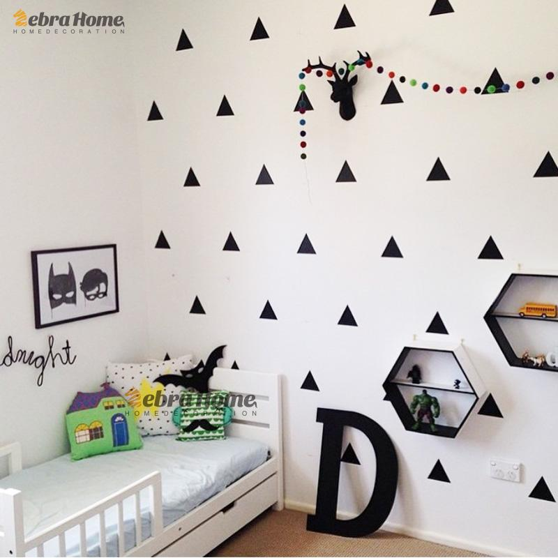 triangle stickers gold triangles sticker removable home decor art