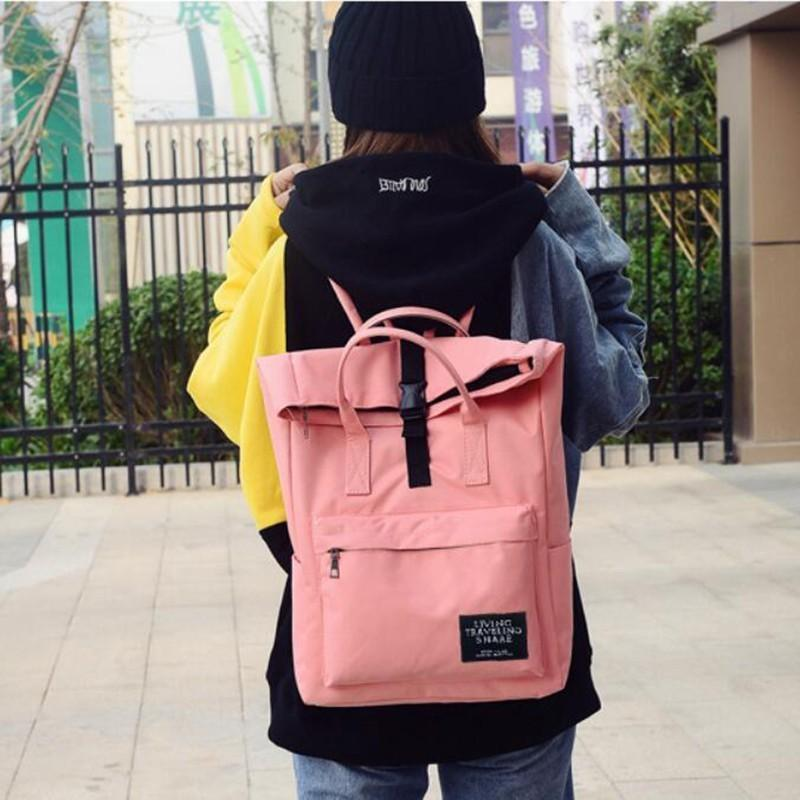 d0ca45726672 Female School Backpacks for Teenage Girls Canvas Women Laptop Back Pack  Preppy Style Casual Backpack College Student Travel Bags