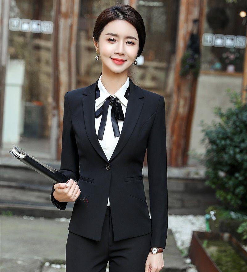 abe3b169fb73 2019 New 2018 Formal Office Ladies Black Blazers Women Outerwear Jackets  Female Work Wear Clothes From Bida Jany, $48.58 | DHgate.Com