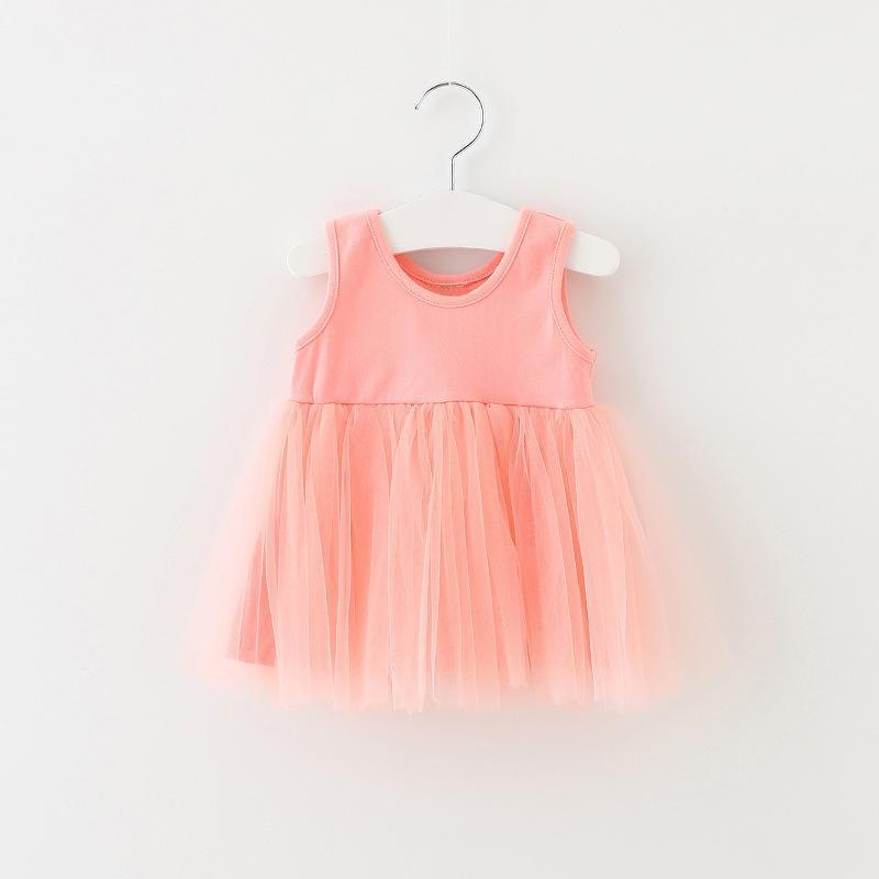 100% Cotton Girls Dress Casual Baby Girl Spring&Autumn Clothes Tulle Fluffy Kids Dresses For Girl 0-4Y Children Princess Dress
