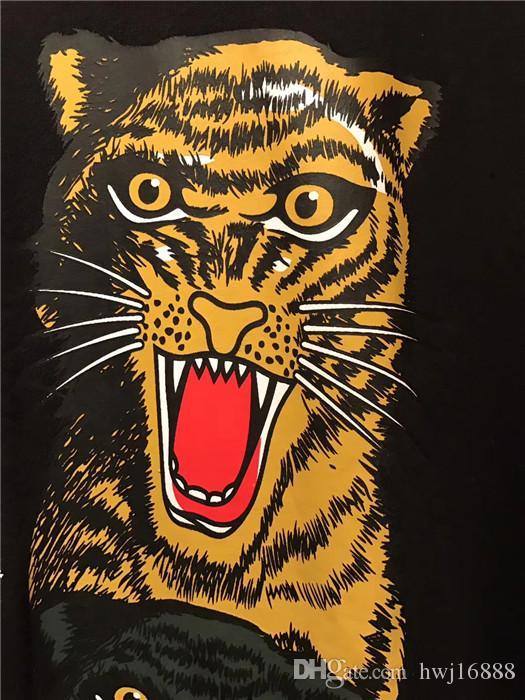 2018 Summer New Fashion brand Mens T Shirt The tiger animal prints 3 d couples T Shirt Mens Clothing Casual Mens Short Sleeve