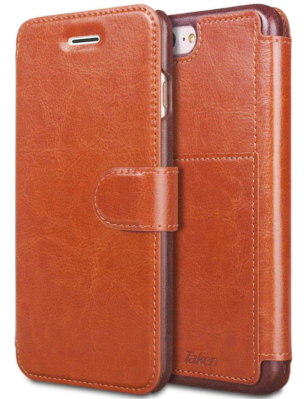 eac2bde3e2c7c Satın Al IPhone 6 Için 8 7 Artı Deri Cüzdan Kılıf Kartları Yuvası Ile Metal  Manyetik Slim Fit Ağır PU Flip Kılıf Kahverengi, $57.58 | DHgate.Com'da