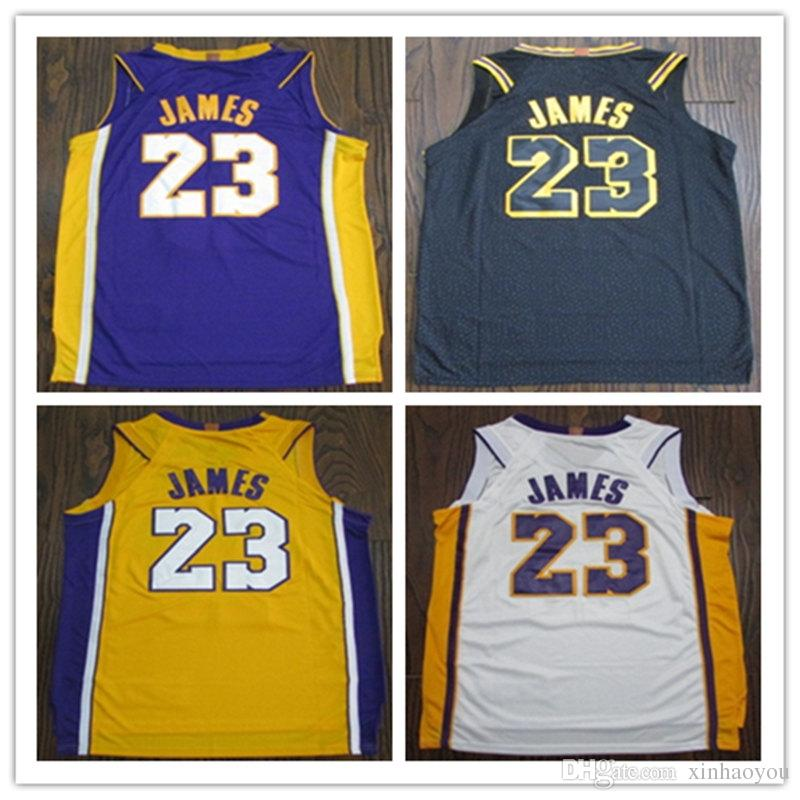 db018ea3b Top Sell Men s Player Version James Jersey New City Black Jerseys 23 ...