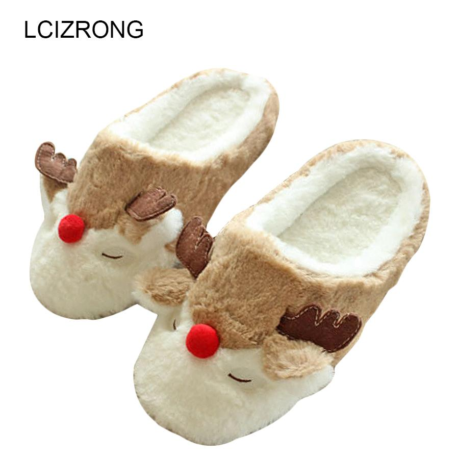 d2ba518805ed Women Indoor Reindeer Slippers Lovers Cotton Home Slippers Floor Plush  Covered Shoes Male Pantoufle Cartoon Style Thigh High Boots Booties From  Dealbag