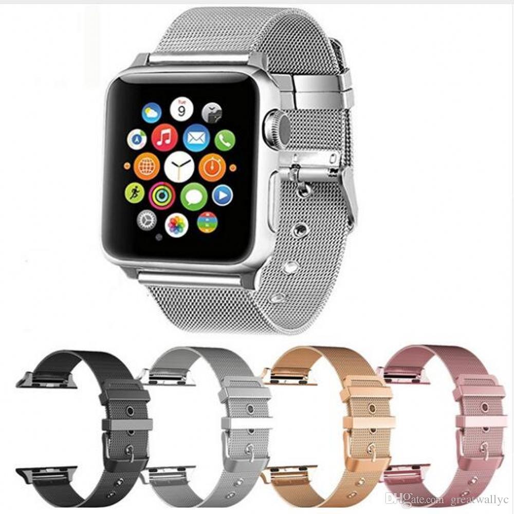 9275c724175 Compre Accesorios Para Relojes Apple Banda IWatch Milanish Loop Banda De  Acero Inoxidable Con Hebilla Clásica Para La Serie Apple Watch 3/2/1 A $4.8  Del ...