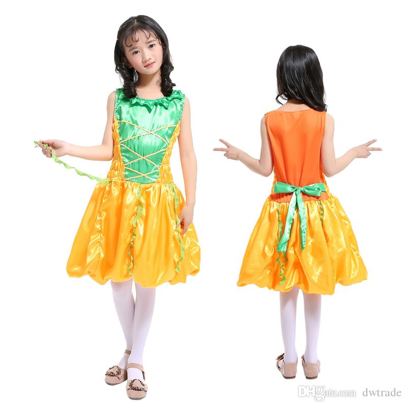 Childrenu0027s Costume Cos Pumpkin Princess Dress Girl Masquerade Witch Show Clothes Girls Dresses for Christmas Halloween Party Birthday Halloween Cpumpkin ...  sc 1 st  DHgate.com & Childrenu0027s Costume Cos Pumpkin Princess Dress Girl Masquerade Witch ...