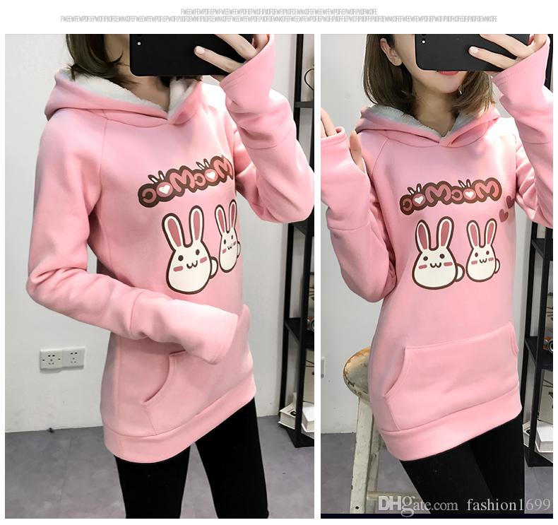 0a866ca6a 2019 2018 Autumn And Winter New High School Girls Hooded Cute Cotton ...