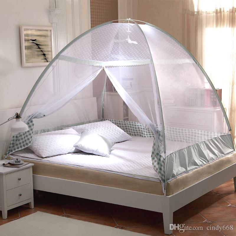 Green Purple Plaid Mosquito Net Tentsportable Mosquito Netsbed